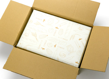 梱包イメージ(外箱を開いた状態)