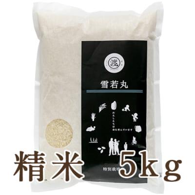 山形県産 雪若丸(特別栽培米)精米5kg