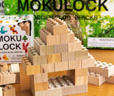 山形県産無垢材ブロック玩具「MOKULOCK(もくロック)」