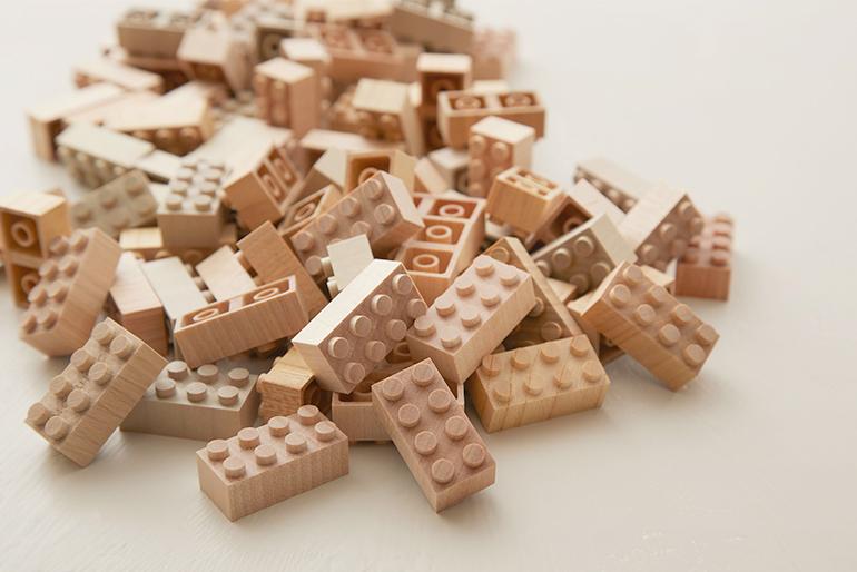 山形の森から生まれたブロック玩具