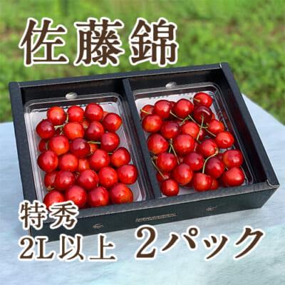 山形県産さくらんぼ 佐藤錦 2Lサイズ 特秀 2パック