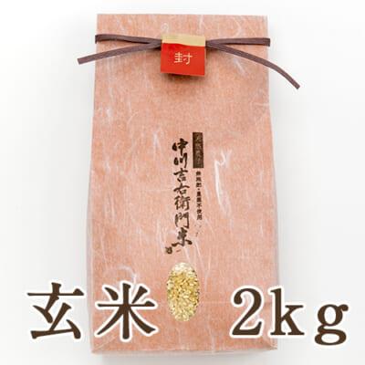 山形県産 自然栽培ササシグレ 玄米2kg(贈答用)