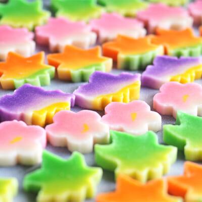 鮮やかで繊細な色彩が料理を彩る