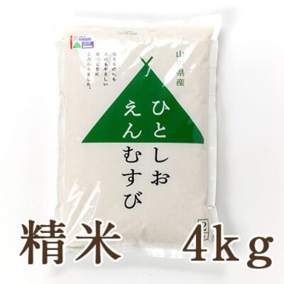 山形県産 特撰ブレンド米「ひとしおえんむすび」(特別栽培米)精米4kg