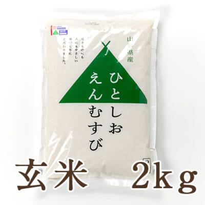 山形県産 特撰ブレンド米「ひとしおえんむすび」(特別栽培米)玄米2kg
