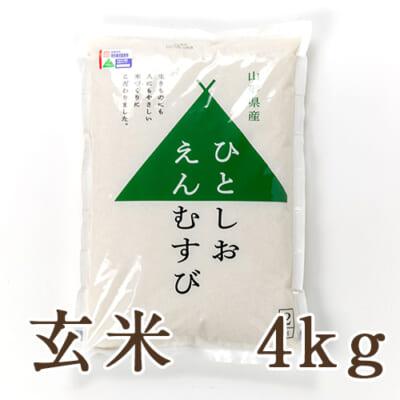 山形県産 特撰ブレンド米「ひとしおえんむすび」(特別栽培米)玄米4kg