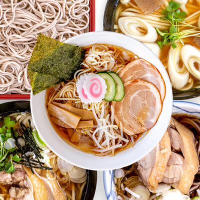 個性豊かな5種の麺を楽しめます